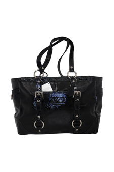10380M Patent Leather Gallery Tote - SV/Black by Coach for Women - 1 Pc Bag