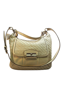 19314 Kristin Woven Leather Hobo - SV/Parchment by Coach for Women - 1 Pc Bag