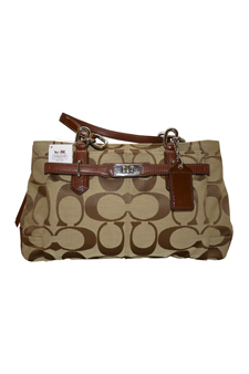 17806M Chelsea Signature Jayden Carryall Tote - SV/Khaki/Walnut by Coach for Women - 1 Pc Bag