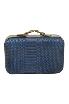 Marley Snake Print Clutch-Midnight Blue by House of Harlow 1960 for Women - 1 Pc Bag