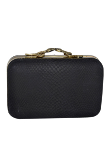 Marley Vintage/Snake Clutch-Black by House of Harlow 1960 for Women - 1 Pc Bag
