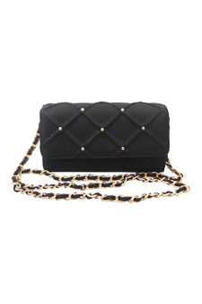 Lee Crossbody Satchel - Black