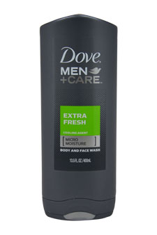 Extra Fresh Body and Face wash by Dove for Men - 13.5 oz Body Wash