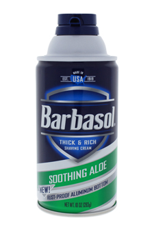 Soothing Aloe Thick & Rich Shaving Cream by Barbasol for Men - 11 oz Shaving Cream
