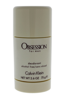 Obsession by Calvin Klein for Men - 2.6 oz Alcohol Free Deodorant Stick