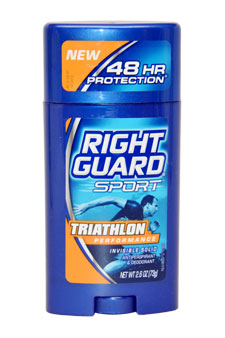 Sport Triathlon Performance Invisible Solid Antiperspirant & Deodorant by Right Guard for Men - 2.6 oz Deodorant Stick