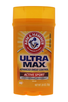 Arm & Hammer Ultramax Deodorant Antiperspirant Invisible Solid Wide Stick Active