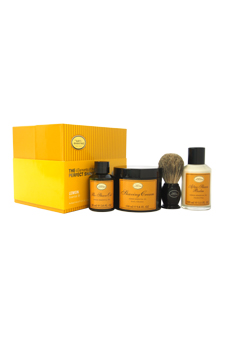 The 4 Elements of The Perfect Shave Kit - Lemon by The Art of Shaving for Men - 4 Pc Kit 2oz Pre-Shave Oil, 5oz Shaving Cream , 3.3oz After-Shave Balm , Pure Badger Black Shaving Brush