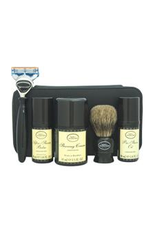 Travel Kit - Unscented by The Art of Shaving for Men - 7 Pc Kit 1oz Pre-Shave Oil, 1.5oz Shaving Cream, 1oz After-Shave Balm, Shaving Brush, Razor, Cartridge, Leather Case