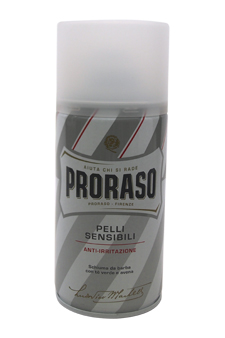 Sensitive Skin Anti-Irritation Shaving Foam With Green Tea & Oatmeal by Proraso for Men - 10.14 oz Shaving Foam
