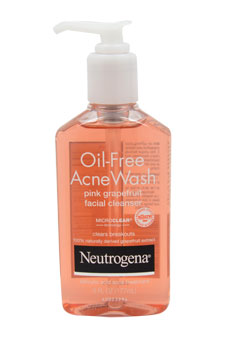Oil Free Acne Wash Pink Grapefruit Facial Cleanser for Unisex - 6 oz Cleanser