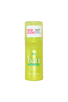 Unscented Original Roll-On Antiperspirant Deodorant by Ban for Unisex - 3.5 oz Deodorant