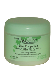 Active Naturals Clear Complexion Daily Cleansing Pads by Aveeno for Unisex - 28 Pc Textured Pads