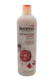 Active Naturals Positively Nourishing Smoothing Body Wash Pomegranate + Rice by Aveeno for Unisex Body Wash
