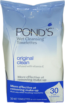 Original Clean Wet Cleansing Towelettes by Pond&#39;s for Unisex - 30 Pc Towelettes