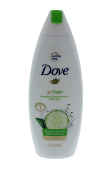Go Fresh Cool Moisture Body Wash with Nutrium Moisture Cucumber&Green Tea Scent by Dove for Unisex - 12 oz Body Wash