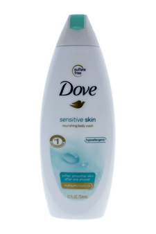 Sensitive Skin Nourishing Body Wash Unscented with NutriumMoisture by Dove for Unisex - 12 oz Body Wash