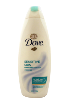 Sensitive Skin Nourishing Body Wash Unscented with NutriumMoisture by Dove for Unisex - 24 oz Body Wash