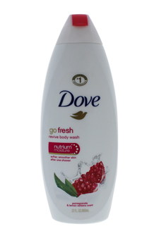 Dove Go Fresh Revive Body Wash with Nutrium Moisture Pomegranate & Lemon Verbena Scen by Dove for Unisex - 24 oz ...