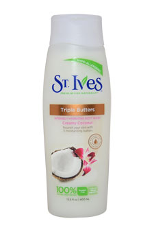 Body Wash Creamy Coconut Triple Butters by St. Ives for Unisex - 13.5 oz Body Lotion