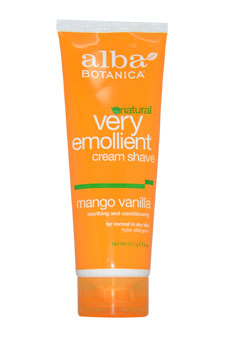 Very Emollient Cream Shave - Mango Vanilla by Alba Botanica for Unisex - 8 oz Shaving Cream
