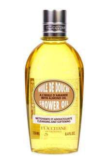 Almond Cleansing & Softening Shower Oil by L'occitane for Unisex - 8.4 oz Shower Oil