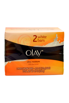 Ultra Moisture White Bars with Shea Butter by Olay for Women - 2 x 4.25 oz Soap