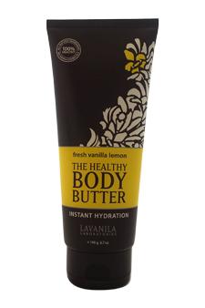 The Healthy Body Butter Instant Hydration - Fresh Vanilla Lemon by Lavanila for Women - 6.7 oz Body Butter