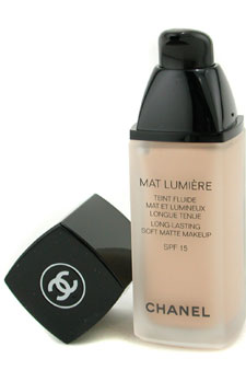 Mat Lumiere Long Lasting Soft Matte Fluid Makeup SPF15 - 14 Ivoire (US Version) by Chanel for Women - 1 oz SPF Makeup