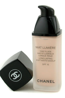 Mat Lumiere Long Lasting Soft Matte Fluid Makeup SPF15 - # 02 Porcelaine by Chanel for Women - 1 oz SPF Makeup (US Version)