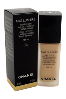 Mat Lumiere Long Lasti Luminous Matte Fluid Makeup SPF15  # 20 Clair at Perfume WorldWide