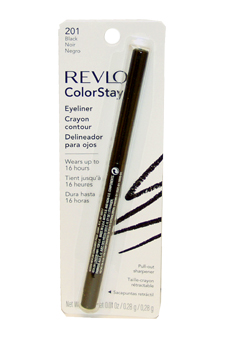 ColorStay Eyeliner Pencil #201 Black by Revlon for Unisex - 0.01 oz Eyeliner Pencil