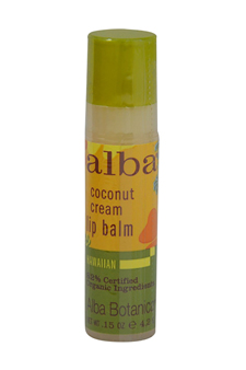 Coconut Cream Lip Balm by Alba Botanica for Unisex - 0.15 oz Lip Balm