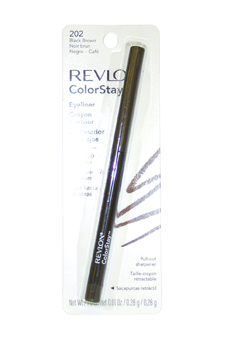 colorstay eyeliner pencil black brown
