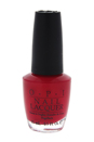 Nail Lacquer - # NL A47 Red Hot Ayers Rock by OPI for Women - 0.5 oz Nail Polish