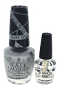 OPI Push And Shove Duet Pack by OPI for Women - 2 Pc 0.5oz Nail Lacquer - # NL G30 Push And Shove, 3.75ml Mini Lay Down That Base (Free)