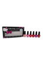 Nail Lacquer Mini Hello Kitty Collection by OPI for Women - 6 x 3.75 ml Small + Cute = Love, Look At My Bow, Spoken From The Heart, 5 Apples Tall, Super Cute In Pink, Say Hello Kitty