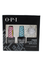 GelColor Soak-Off Gel Lacquer Kit by OPI for Women - 2 Pc Kit 0.5oz GelColor # GC 106 - Mod About You Pastel, 0.5oz GelColor # GC 101 - Can't Find My Czechbook Patel & Free Silver Leaf Applique
