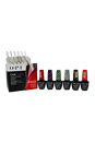 GelColor Soak-Off Gel Lacquer Kit by OPI for Women - 8 Pc Kit 6 x 0.5oz Gel Color - GC C18 Green on the Runway, GC Turn on the Haute Light, GC C35 Sorry I'm Frizzy Today, GC C13 Coca-Cola Red, GC C15 Get Cherried Away, GC C17 Today I Accomplished Zero, 20 Pcs OPI Experttouch Removal Wraps, Blank Nail Palette