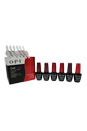 GelColor Soak-Off Gel Lacquer Kit by OPI for Women - 8 Pc Kit 6 x 0.5oz Gel Color - GC L60 Dutch Tulips, GC W52 Got The Blues for Red, GC Z13 Color So Hot It Berns, GC L72 OPI Red, GC A16 The Thrill of Brazil, GC B76 OPI on Collins Ave, 20 Pcs OPI Experttouch Removal Wraps, Blank Nail Palette