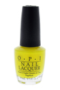 Nail Lacquer # NL BB8 No Faux Yellow by OPI for Women - 0.5 oz Nail Polish