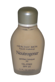 Healthy Skin Liquid Makeup, Gloden Bisque # 70 by Neutrogena for Women - 32 ml Liquid Makeup