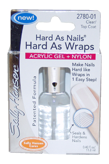 Hard As Nails Hard As Wraps Nail Gel # 2780-01 Clear/Top Coat by Sally Hansen for Women - 0.4 oz Nail Hardener