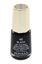 Nail Lacquer # 48 - Black by Mavala for Women - 0.17 oz Nail Polish