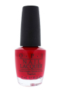 Nail Lacquer # NL Z13 Color So Hot It Berns by OPI for Women - 0.5 oz Nail Polish