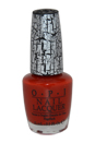 Nail Lacquer # NL E55 Red Shatter by OPI for Women - 0.5 oz Nail Polish
