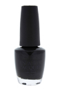 Nail Lacquer # NL T02 - Black Onyx by OPI for Women - 0.5 oz Nail Polish