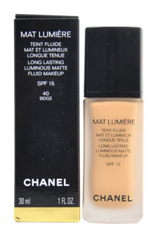 Mat Lumiere Long Lasting Luminous Matte Fluid Makeup SPF15 - # 40 Beige at Perfume WorldWide