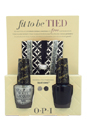 Fit To Be Tied Duo #1 by OPI for Women - 3 Pc Mini Set 0.5oz Nail Lacquer # HL E20 Its Frosty Outside, 0.5oz Nail Lacquer # HL E21 Emotions, Free Hair Ties/Bracelets