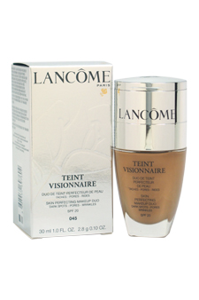 Teint Visionnaire Skin Perfecting Makeup Duo - # 045 Sable Beige by Lancome for Women - 1 oz Foundation